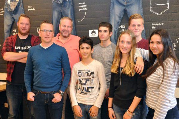 Groepje met ondernemers Willem Wouters Mark Pelzers Mark van de Laarschot